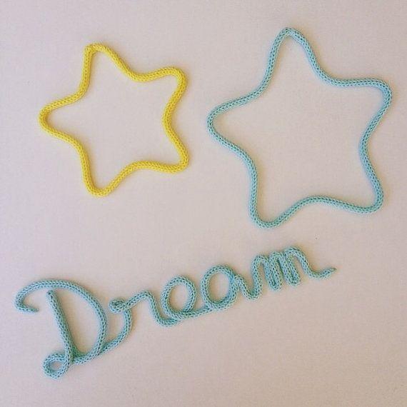 Dream & stars en laine mot en tricotin par MumZL sur Etsy