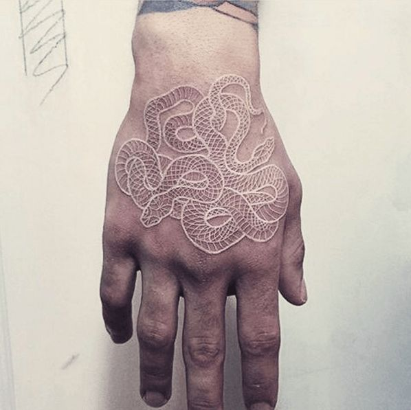 56 best tattoo 39 d lifestyle hand tattoos images on for White ink tattoos after a few years