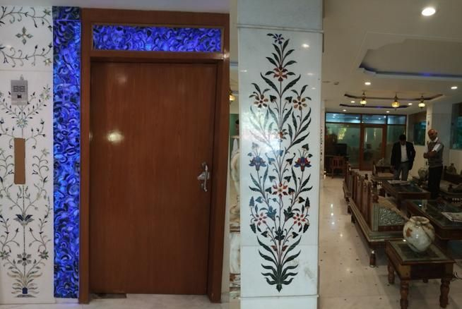Some of the beautiful decor of the Crimson Park Hotel in Jaipur