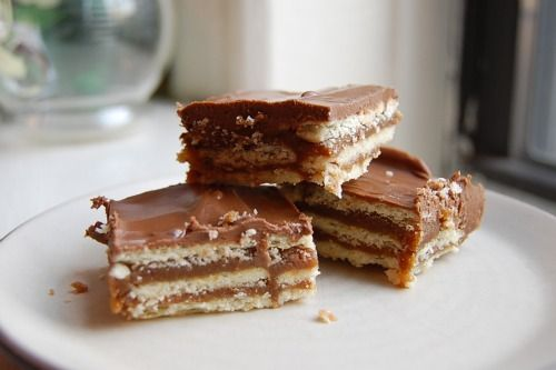 Paula Deen's Homemade Kit Kat Bars.  I wonder if Paula Deen has ever been blamed for anyone's untimely death from butter overload.