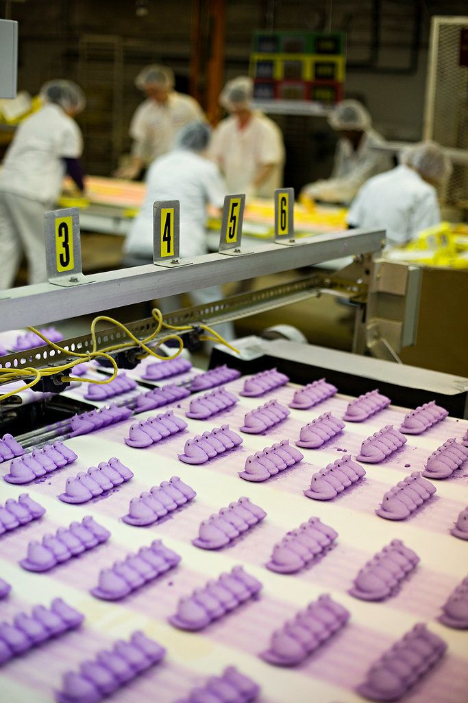 Slide show about how Peeps are made! If you cannot visit the factory these photos will be great to show kids! {Who can go to the Peep factory anyway?}