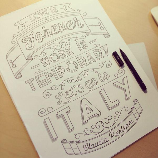 A cativante tipografia de Tobias Hall - O designer e ilustrador inglês Tobias Hall nos impressiona com sua detalhada e cativante tipografia. Um prato cheio para quem quer se inspirar. Confira!