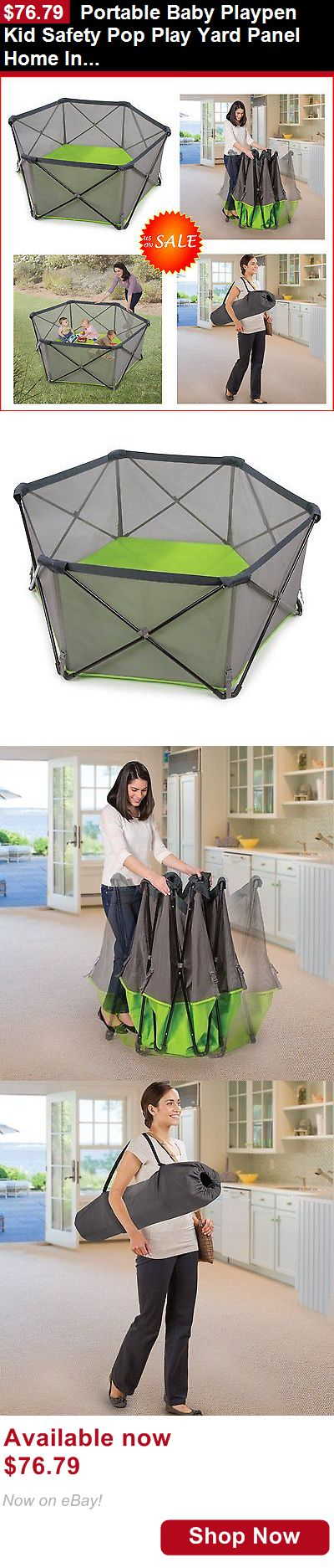 Baby Play pens and play yards: Portable Baby Playpen Kid Safety Pop Play Yard Panel Home Indoor Outdoor Pet Pen BUY IT NOW ONLY: $76.79