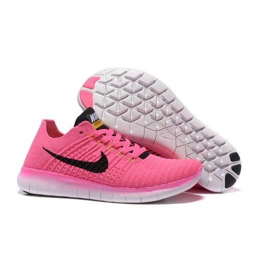 Nike Free 5.0 Flyknit Women Pink Black Fashion £52.99