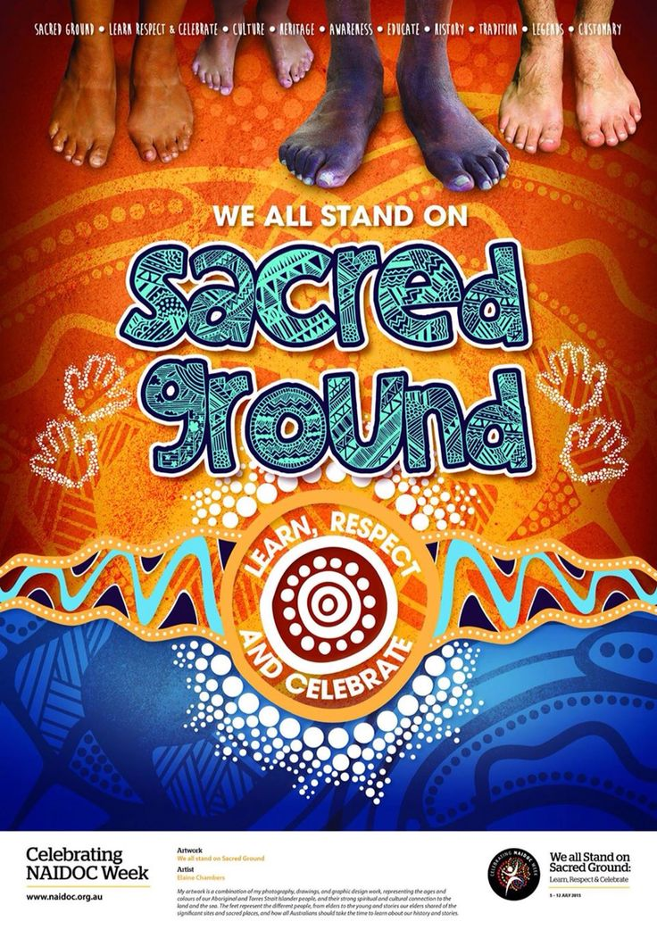 NAIDOC Week Poster 2015. Winning entry by Elaine Chambers