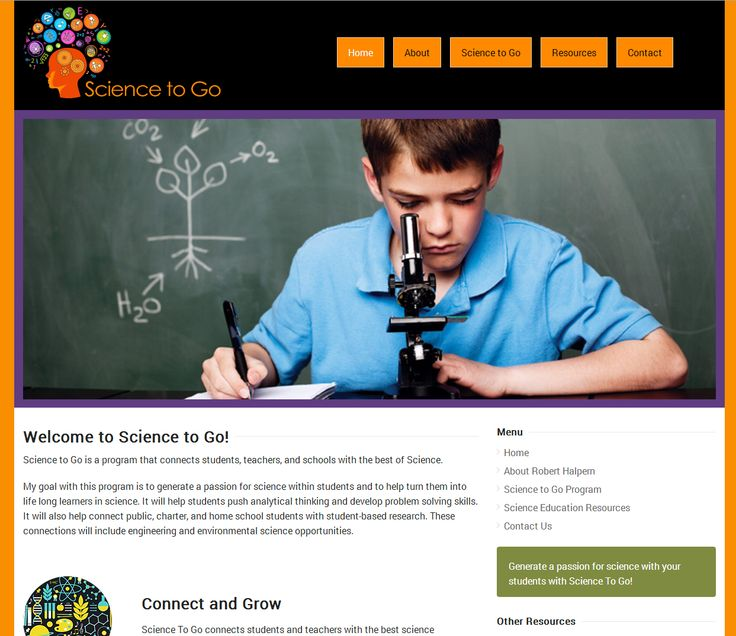 This is a Flat Web Design inspired website that we did for a local science teacher. He is starting a project that he hopes will motivate students and their teachers/parents to pursue science research with a passion.