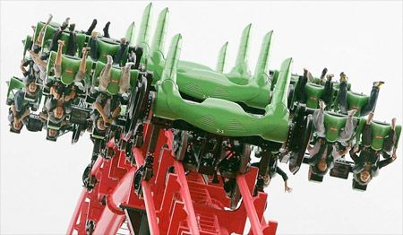 Bucket List: Eejanaika Roller Coaster  Scary roller coaster at Fuji-Q Highland in Japan features seats that rotate 360 degrees in a controlled spin