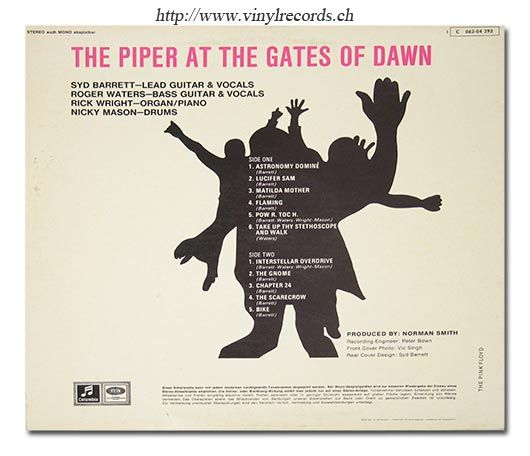 back cover photo piper at the gates of dawn pink floyd vinyl record store http www. Black Bedroom Furniture Sets. Home Design Ideas