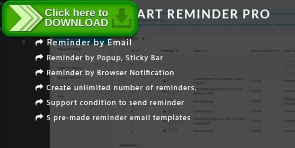 [ThemeForest]Free nulled download Prestashop Abandoned Cart Reminder PRO - Using Email, Popup, Browser Notification from http://zippyfile.download/f.php?id=51426 Tags: ecommerce, abandoned cart, cart reminder, prestashop abandoned cart reminder, prestashop browser notification, prestashop cart, prestashop module, reminder