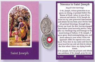 Prayer Booklet to St Joseph with Relic Medal.