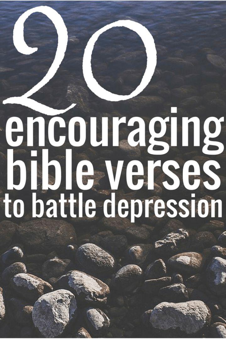 20 Encouraging Bible Verses to Battle Depression