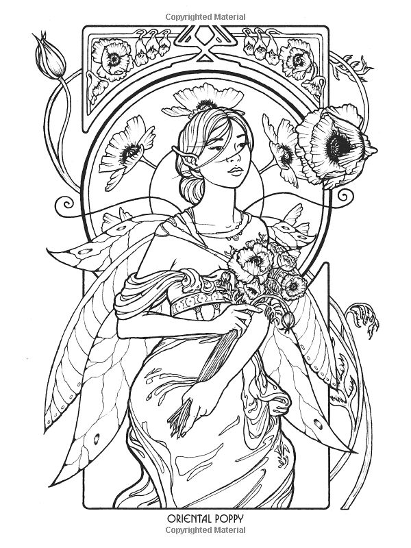 1110 best Fairies to Color images on Pinterest | Coloring books ...