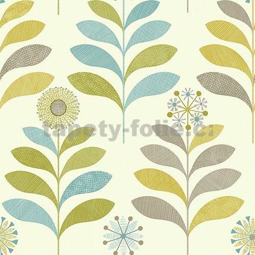 Papírové tapety na zeď Options květy zelené