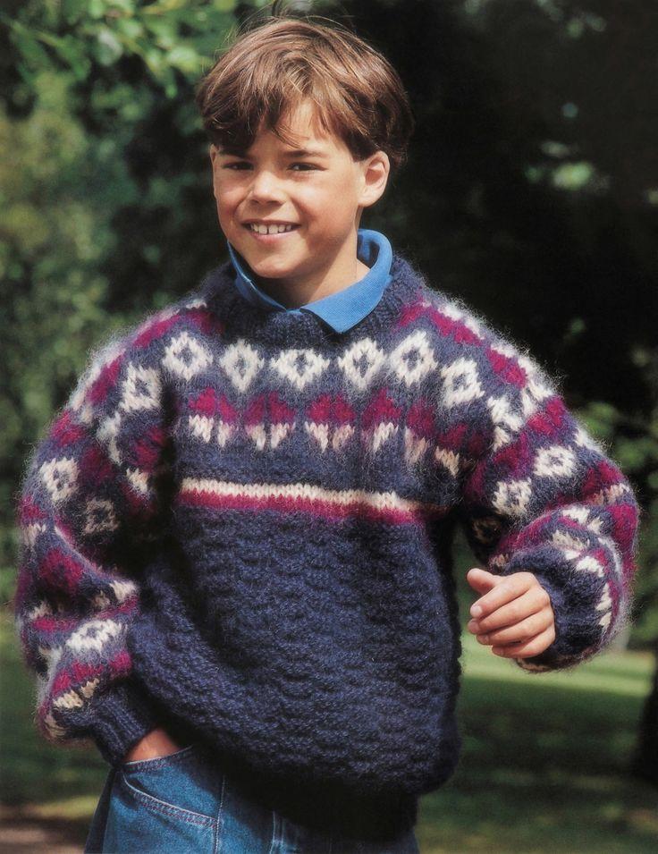 boys kids mohair sweater, photo from camilla strikkedesign, fjorda knitting pattern fuzzy fluffy childrens