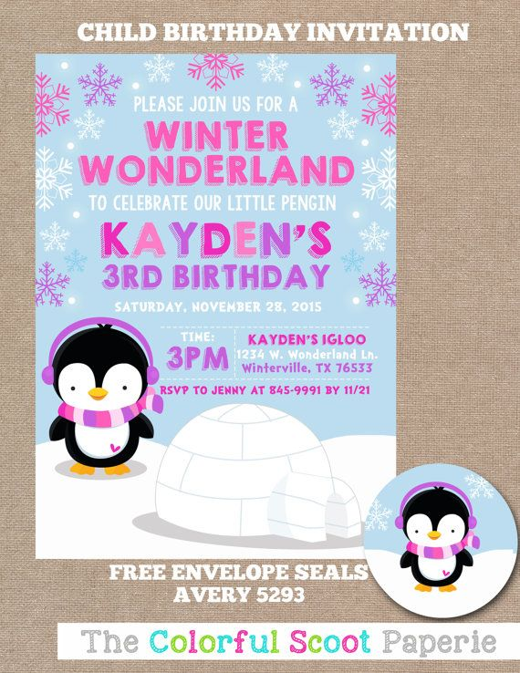 13 best winter birthday party ideas images on pinterest birthday penguin winter onederland birthday invitation winter onederland birthday party winter wonderland birthday invite filmwisefo Image collections