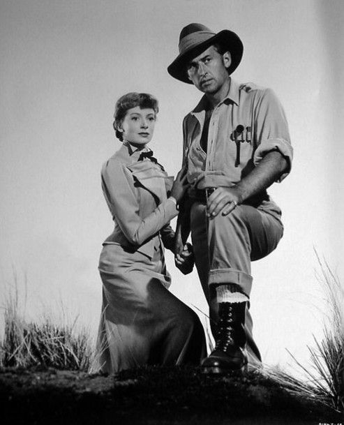 On the right is Stewart Granger with Deborah Kerr in ' King Solomon's Mines'. Description from pinkheartsociety.blogspot.com. I searched for this on bing.com/images