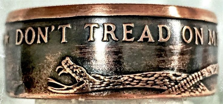 Don't Tread On Me Coin Ring by HeirloomCoinRings on Etsy