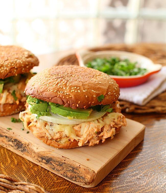 Chipotle Chicken Cemita Sandwiches