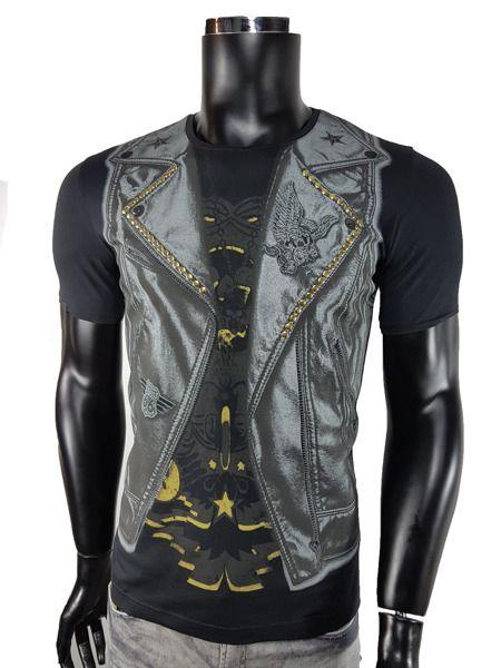 T-shirt męski - Czarny - T-shirty męskie - Awii, Odzież męska, Ubrania męskie, Dla mężczyzn, Sklep internetowy