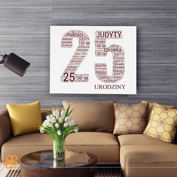 #Prezent z okazji 25 urodzin musi być wyjątkowy! Stwórz obraz ze słów dla przyjaciela i spraw mu ogromną radość! http://bit.ly/1MYQEdc