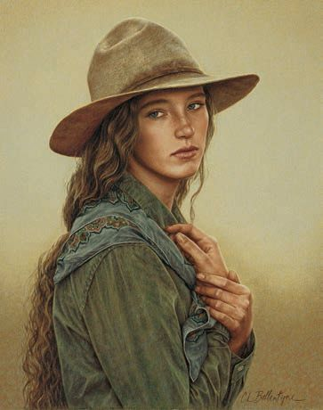Old Cowboy | Shades of Gray by Carrie Ballantyne, 2002, colored pencil, 15 x 12 ...