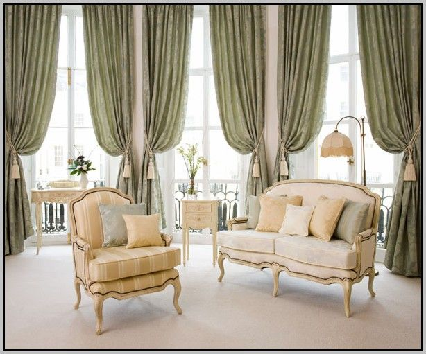 living room window treatments for large windows. i really like how these living room curtains drape. it must be because they\u0027ve hung the tie-back at a higher angle. window treatments for large windows f