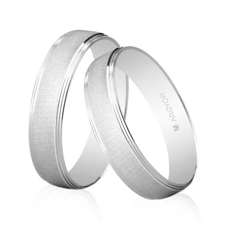 Alianzas de boda Oro 1ª Ley 18Kts. blanco Argyor ref. 5B45466 18K