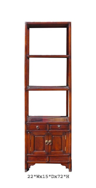 tall narrow Korean cabinet, small footprint. need something to go with midcentury media cabinet...