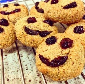 Smiley Gooey Almond Oat Cookies