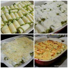 Canelone de abobrinha. ..  #zucchini   Como fazer  http://www.asdeliciasdodudu.com.br/2015/09/canelone-de-abobrinha.html