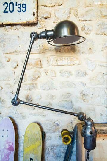 lampe jield sur tau vintage lampe jield d poque sur tau bross e et cir e lectricit. Black Bedroom Furniture Sets. Home Design Ideas