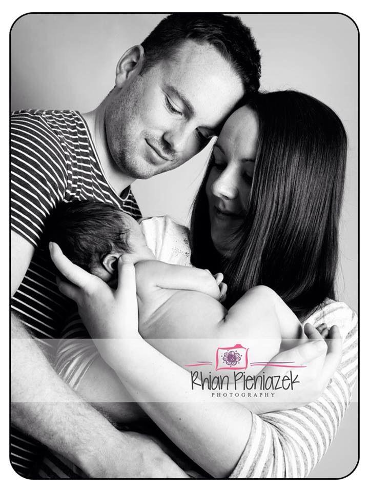 Families. New parents. Newborn girl. Rhian Pieniazek Photography.