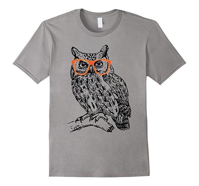 Hipster owl sketch t shirt wise looking owl with for Owl fish clothing