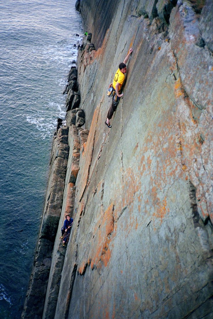 Sea cliff climbing and the smells of the sea.