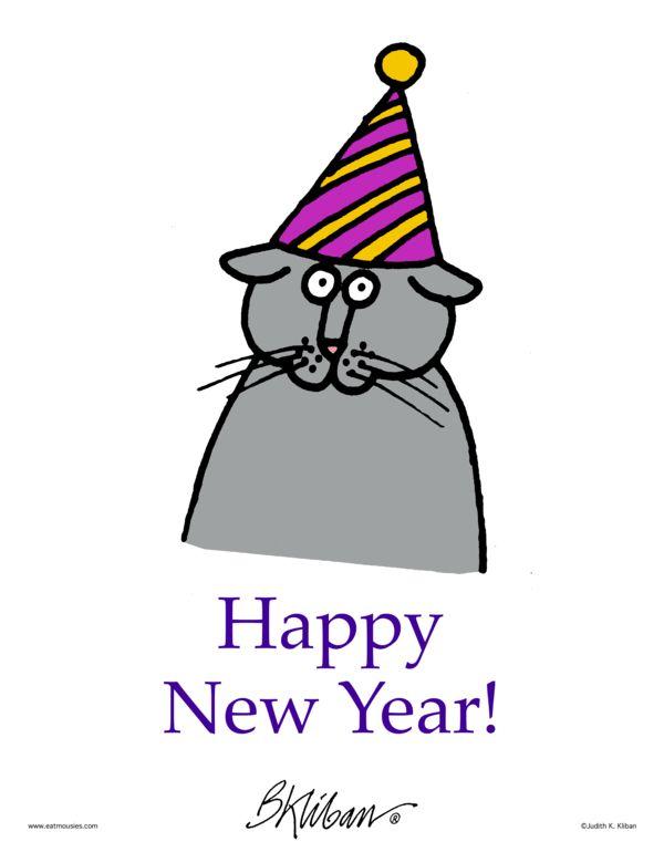 Kliban's Cats Comic Strip, January 03, 2017     on GoComics.com
