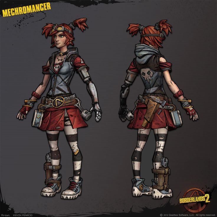 Gaige the Mechromancer Borderlands 2 Character by Kevin Penrod