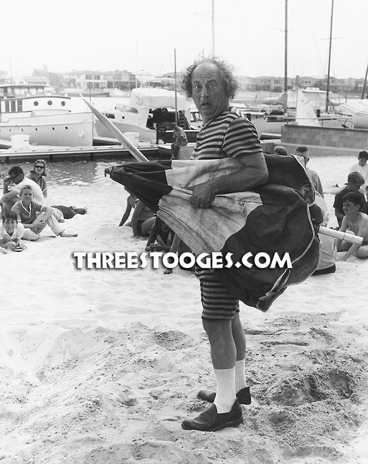 Happy #NationalBikiniDay Just another day the beach with Larry. #ThreeStooges