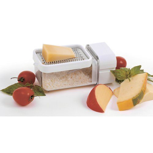 Norpro Grate Dispense and Store by Norpro. $16.24. Includes airtight storage lid. 3 Function design. Holds 3 cups/24 ounces. You can grate, dispense and store all in one grater. Hand washing recommended. Great for cheese, chocolate, spices, and more. Unique 3 function design. Built in grater with catcher. Squeezable dispenser on end of catcher allows for spreading directly from the catcher. Includes airtight storage lid.