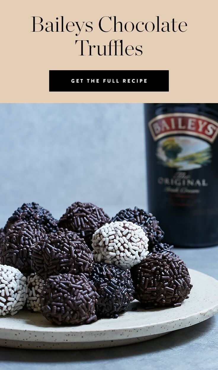 Instead of baking the same old chocolatey desserts (ahem, cupcakes), try something different. @BaileysUS-infused truffles, perhaps?  — via @PureWow