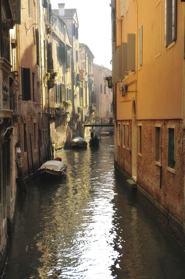 Venice Italy; I would love to go for a boat ride on this river!