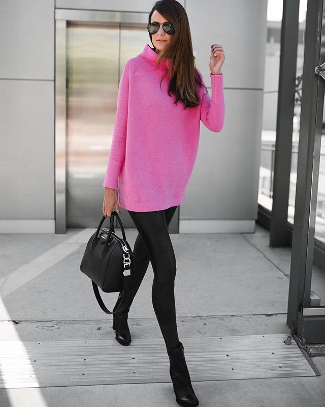 Did you see today's blog post with @Nordstrom *direct link in bio?!? I style this amazing pink sweater & tell you how you can enter to win one of your own!! @themilleraffect