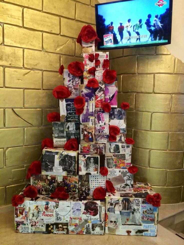 Fashion christmas tree  Recycling fashion magazine