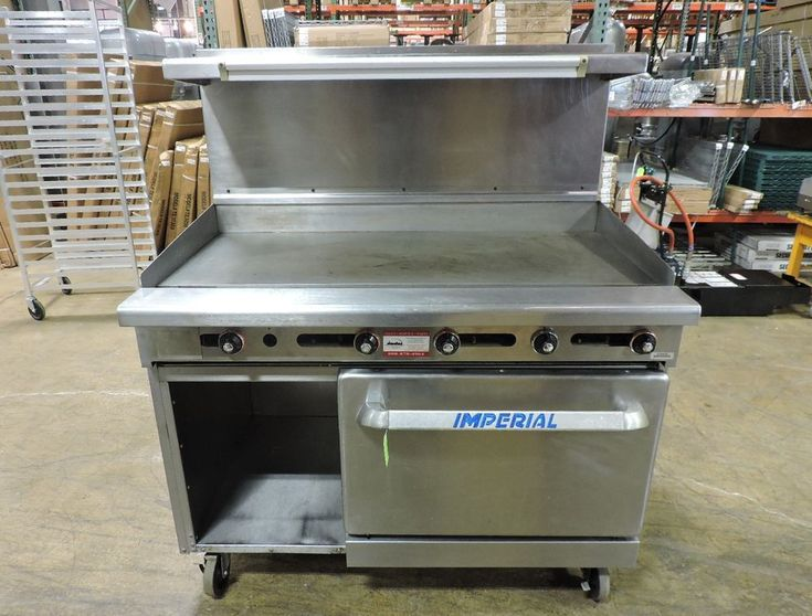 "Imperial IR-G48-XB Commercial Gas 48"" Griddle Top Range with Oven & Cabinet Base #ImperialRange"
