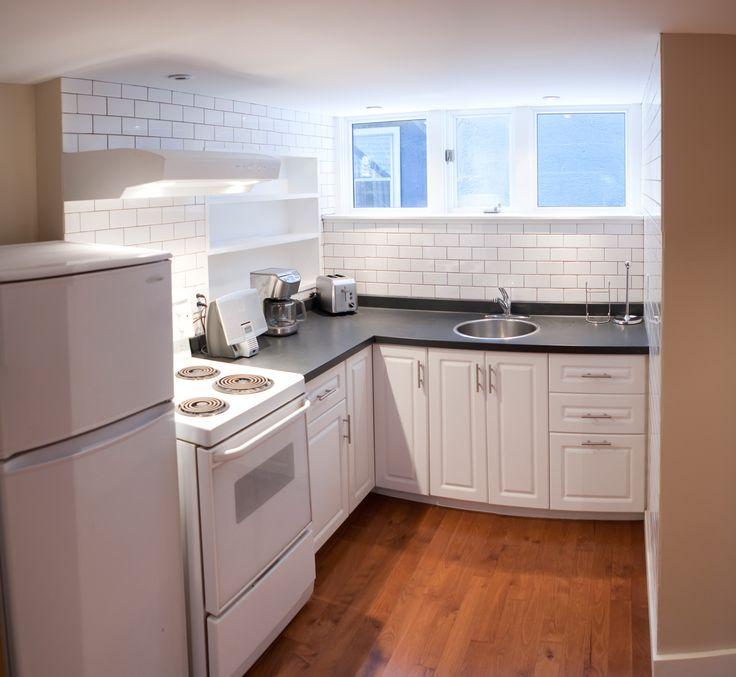 30 best basement ideas images on pinterest basement for Basement apartment kitchen ideas