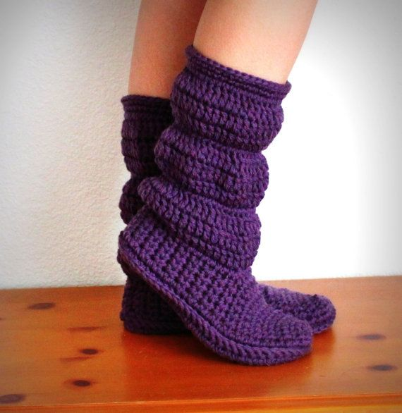 These slipper boots look really warm!