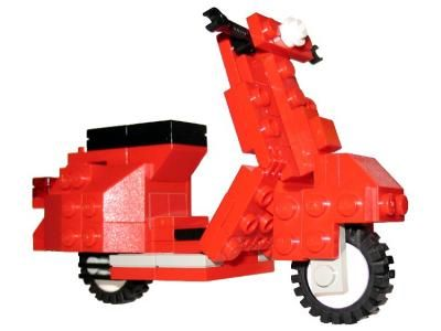 LEGO Vespa Scooter: A LEGO® creation by Eric Hunter: Lego Boards, Eric Hunters, Vespas Scooters, Awesome Lego, Plays Lego, Lego Ideas, Lego Creations, Lego Vespas, Lego Cars