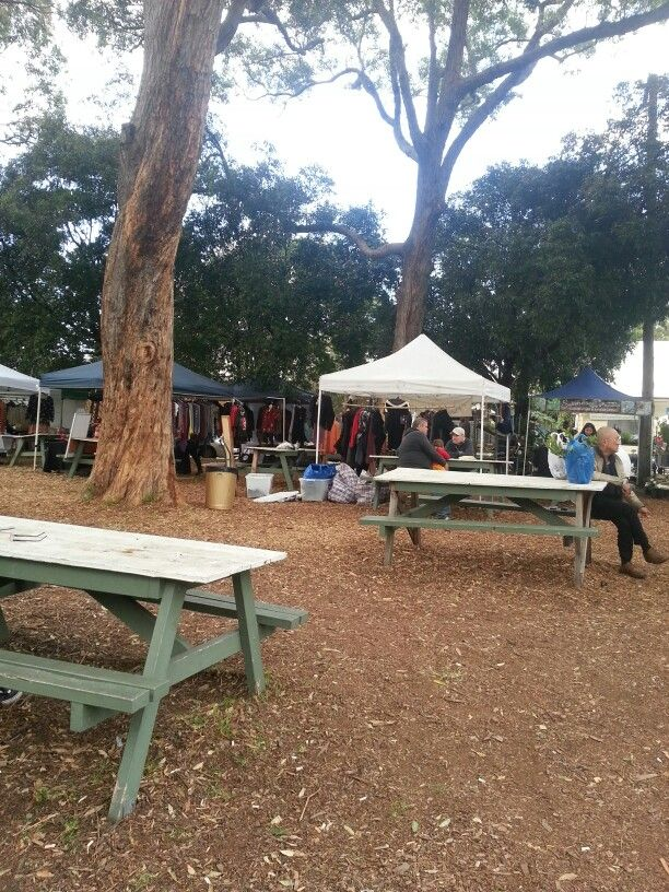Picnic area at the markets