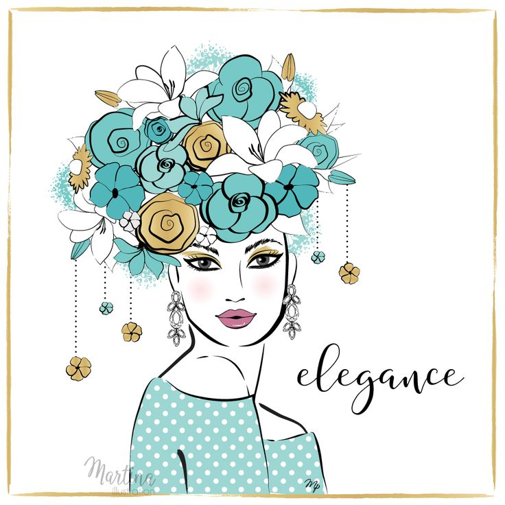 Stylish Advent Calendar DAY 7   I wish you ELEGANCE  When the inside is as beautiful as outside. I wish you beauty that never fades and never goes out of style  Elegant woman fashion illustration