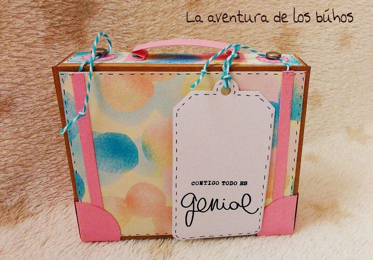 La aventura de los buhos: Tutorial caja maleta de viaje!!!!