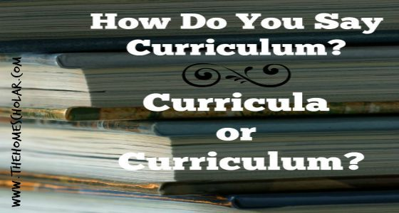 Do you know the difference between Curriculum and Curricula?
